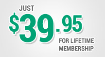 Just $39.95 for lifetime membership